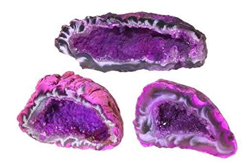 Achat-Geoden 20-30mm pink gefärbt