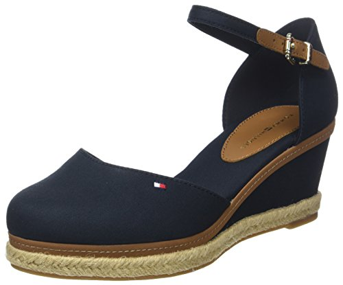 Tommy Hilfiger Damen Iconic ELBA Basic Closed Toe Geschlossene Sandalen, Blau (Midnight 403), 40 EU