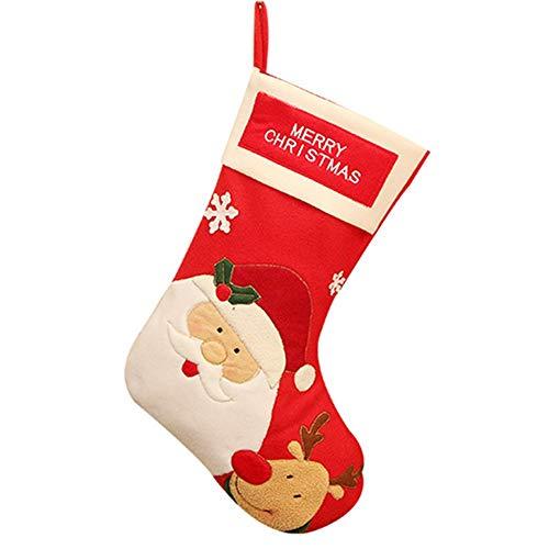 BJ-SHOP Kerstkous, kerstlaarzen 45 cm vilt kerstkous Perfect voor open haard geschenk.