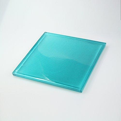 10vetro piastrelle, mattonelle in vetro adatto a mattoni di vetro–Turchese Metallic 19x 19cm