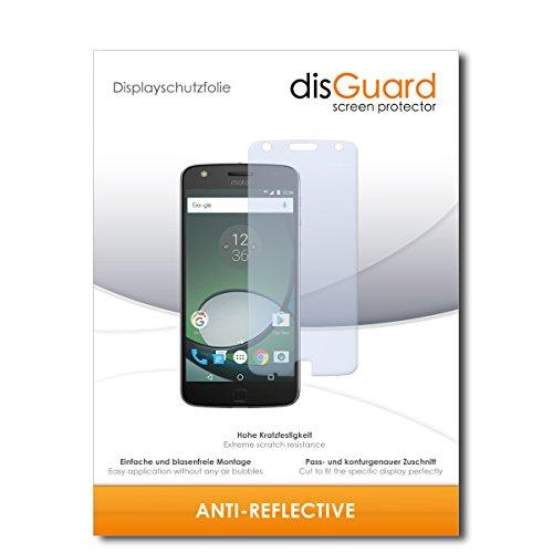 disGuard® Bildschirmschutzfolie [Anti-Reflex] kompatibel mit Lenovo Moto Z Play [2 Stück] Entspiegelnd, Matt, Antireflektierend, Extrem Kratzfest, Anti-Fingerabdruck - Panzerglas Folie, Schutzfolie