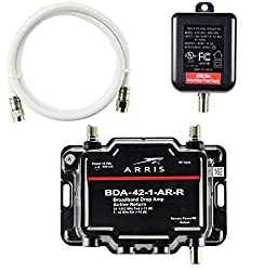 cheap 1-port Arris cable, modem, TV, OTA, HDTV signal amplifier with active return and coaxial cable …