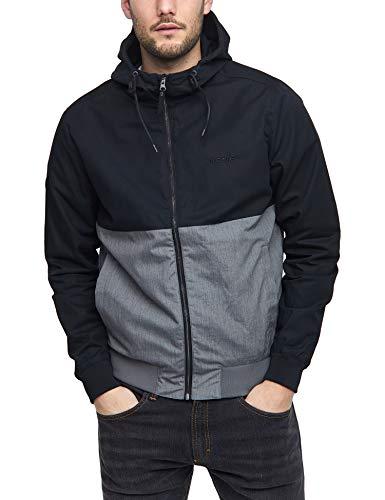 mazine - Herren - Jacke 'Campus Classic' - Urban Streetwear Sommer Frühling - Black/Grey Mel - M