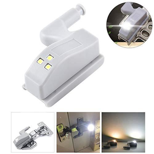 ILS – 0,3 W scharnier binnen universeel LED-lamp sensor kast 3 LED nachtlampje lamp ON/OFF automatisch (wit licht)