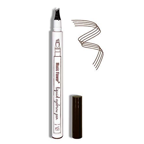 Eyebrow Pen,Microblading Eyebrow Pen Tat Brow Microblading Pen 4 Point Eyebrow Pencil Micro Ink Brow Pen Eyebrow Tint Waterproof & Smudge-Proof Natural Eye Makeup