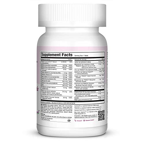 Maxi-Health One Prenatal Vitamin Supplement - 1 a Day - Over 25 Essential Vitamins and Minerals for Pregnant and Lactating Women - 120 Count - 4 Month Supply