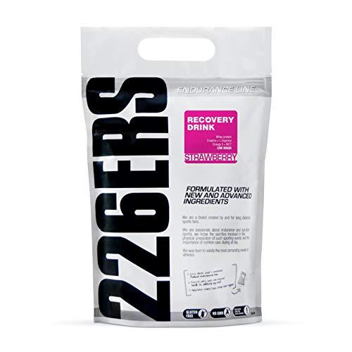 226ERS Recovery Drink, Recuperador Muscular con Proteína, Creatina, Hidratos de Carbono, Triglicéridos y L-Arginina, Fresa - 1000 gr