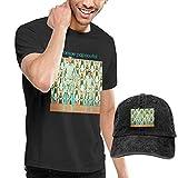 SOTTK Camicie e T-Shirt Sportive,Top e Bluse, Men's Stromae Papaoutai T-Shirts And Washed Denim Baseball Dad cap Black