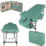 Massage Imperial® Ultra Lightweight Professional Knightsbridge Aluminium 10Kg Light Green 2-Section Portable Massage