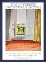 ポスター デビット ホックニー Window Grand Hotel Vittel 1970 額装品 ウッドベーシックフレーム(ブルー)