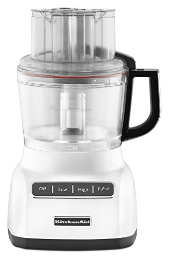 KitchenAid KFP0922CU 9 Cup Food Processor with Exact Slice System, Contour Silver