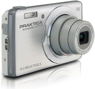 Praktica 14 Z50S luxmedia Digitalkamera (14 Megapixels, 5 fach opt. Zoom, 7,62 cm (3 Zoll) Display) silber