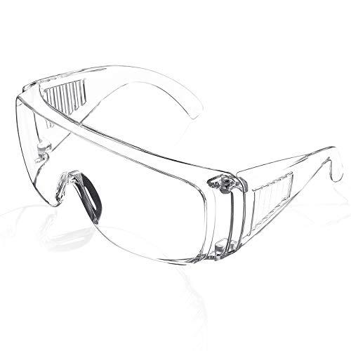 SGODDE Plegable Gafas Protectoras, Gafas de Seguridad, Protección Ocular,Gafas a Prueba de Polvo Anti-Vaho, Anti-Saliva, Completa Transpirables a Prueba de Salpicaduras, para Adultos/Niños 1 Piezas