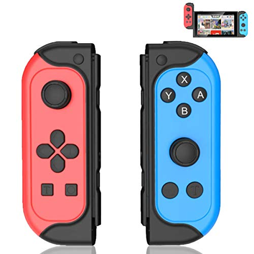TUTUO Wireless Controller für Switch, 2er-Set Links Rechts Replacement Kabelloser Bluetooth Gamepad Joypad Joystick Controller Switch Joy-Con Kompatible mit Switch & Lite
