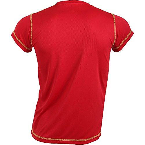 Padel Session Camiseta Tecnica Rojo Amarillo