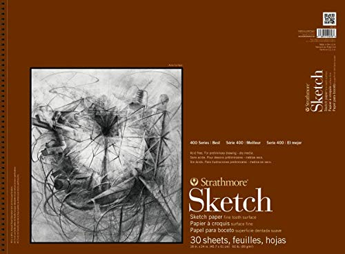 Strathmore 455-18 400 Series Sketch Pad, 18' x 24' Wire Bound, 30 Sheets