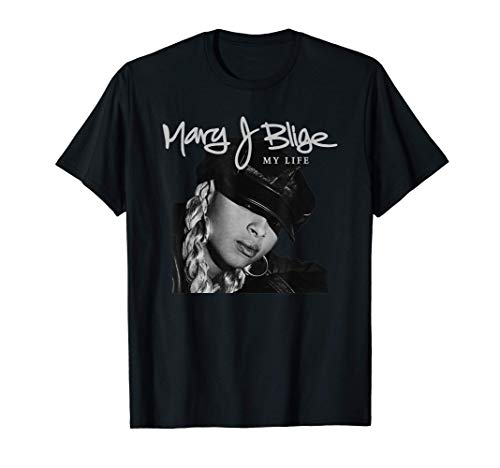Official Mary J Blige My Life Tracklist Back T-Shirt