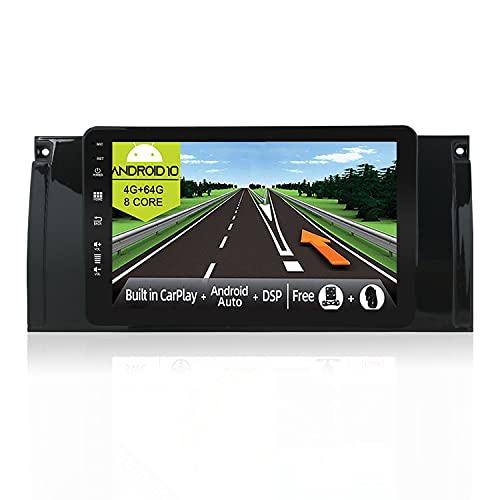 JOYX Android 10 Autoradio Compatibile M5 / E53 / E39 (1995-2003) - [4G+64G] - [Built-in DSP/Carplay/Android Auto] - Camera GRATUITI - BT DAB Volante WiFi 360-Camera Fast-Boot - 10.1 Pollici 2 Din