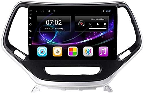 Navegación GPS Android 10.0 Radio compatible con Jeep Cherokee 2014-2018 Navegación GPS Unidad principal de 9 pulgadas Pantalla táctil HD Reproductor multimedia Video MP5 con WiFi DSP SWC MirrorLink