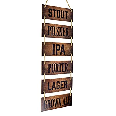 """Excello Global Products Large Hanging Wall Sign: Wine Decor (11.75"""" x 32"""") - EGP-HD-0303"""
