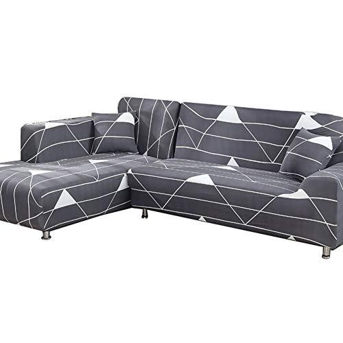 Jay Funda de sofá para Sala de Estar Sofá seccional Fundas para sillas Fundas para sofá de Dos plazas Textiles para el hogar elásticos universales,Gris,3—Seater(195—230cm)