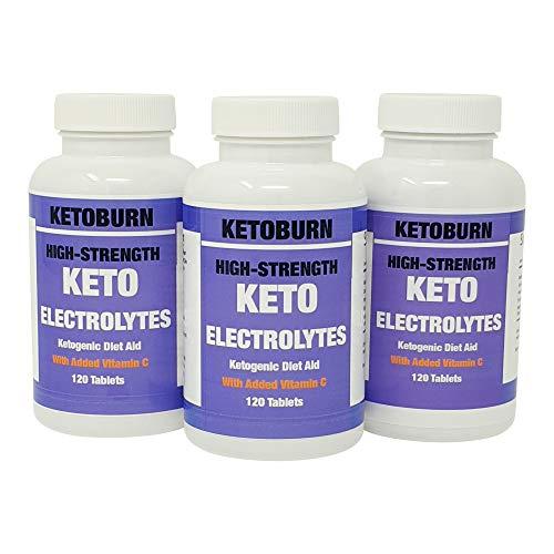 Keto Burn Electrolytes Suplemento De Electrolitos Keto Para La Dieta Cetogénica Con Sodio Potasio Calcio Magnesio y Vitamina C x 120 Comprimidos De 900 mg