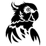 PAOPD 3 Piezas de Pegatinas de Coche 12 cm * 15,1 cm Loro pájaro Divertido calcomanía Pegatina Coche, Furgoneta, Ordenador portátil, Puertas o Paredes Ideal para Furgonetas Camper