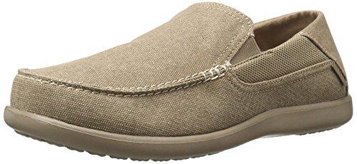 Crocs Men's Santa Cruz 2 Luxe Loafer Slip-On, Khaki/Khaki, 14 M US