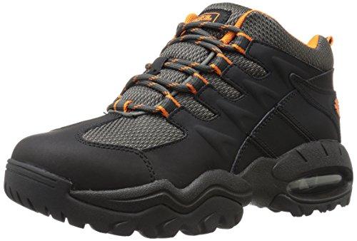 Harley-Davidson Men's Jett Walking Shoe, Black/Orange, 11.5 M US