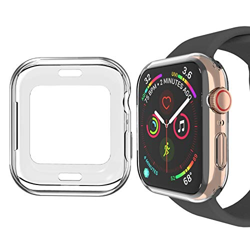Ossky - Cover per Apple Watch 44 mm, progettata per Apple Watch 44 mm, Serie 4 44 mm, Colore: Nero