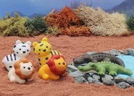 Iwako Salvaje Animales de Safari 2 cocodrilos, 2 tigres y 2 gomas de borrar León