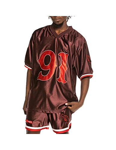 GRIMEY Camiseta Football The Loot SS21 Brown-L