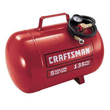 Craftsman 9-15200 5 Gallon Horizontal Air Tank with 135 Pounds Per Square-Inch