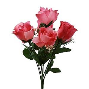 SN Decor 84 Silk Rose Buds Artificial Flowers for Wedding DIY Centerpiece Floral Arrangement (10″x4″) Fake Roses Mauve Silk Flower with Gypsophila – New