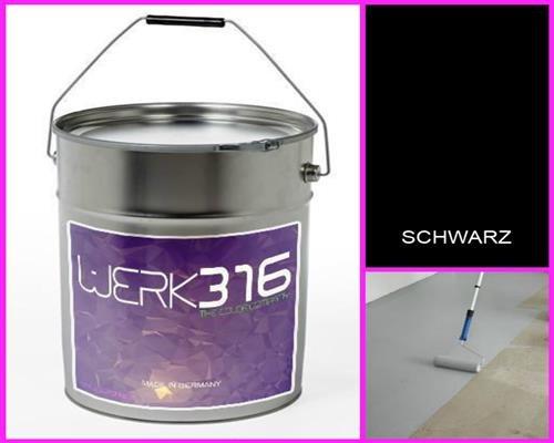 6,75€/L - 20L Bodenbeschichtung Betonfarbe Bodenfarbe Bodenversiegelung Garagenfarbe Tiefschwarz