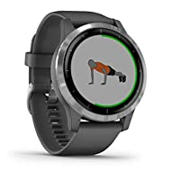 Garmin Vívoactive 4, GPS Smartwatch, Features Music, Body Energy Monitoring, Animated Workouts, Puls...