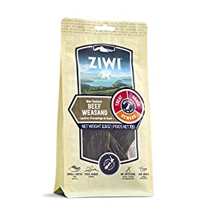 ZIWI Dog Chews and Treats – All Natural, Air-Dried, Single Protein, Grain-free, High-Value Treat, Snack, Reward (Beef Weasand)