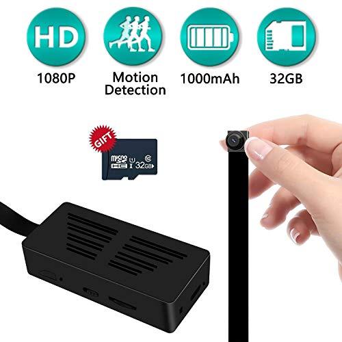 Amyway Mini Kamera Eingebaute 32GB HD 1080P DIY Mini Tragbare Sicherheits Überwachungkamera Kindermädchen-Kamera mit Bewegungserkennung Videoaufzeichnung MEHRWEG