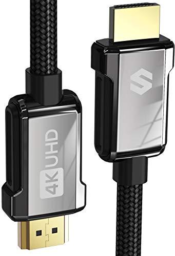 Cavo HDMI 4K 2M, Silkland Cavo HDMI 2.0 ad Alta Velocità 18Gbps Supporta 4K@60Hz, HDR, 3D, Ethernet, Audio Return - Cavo HDMI Nylon Intrecciato per Monitor, TV UHD, Blu-ray, PS4, PS3, Xbox, Proiettore