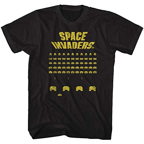 Space Invaders Game Screen T-shirt, Black - S to 6XL