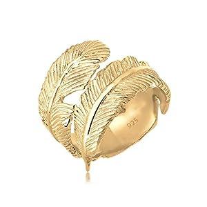 Elli Anillos para dama con apariencia de plumas en plata de ley 925 | DeHippies.com
