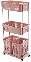 Room Service Cart Laundry Tool Cart Laundry basket Large Laundry Basket, 3 Layers Washing Basket, Clothes Storage Basket M...