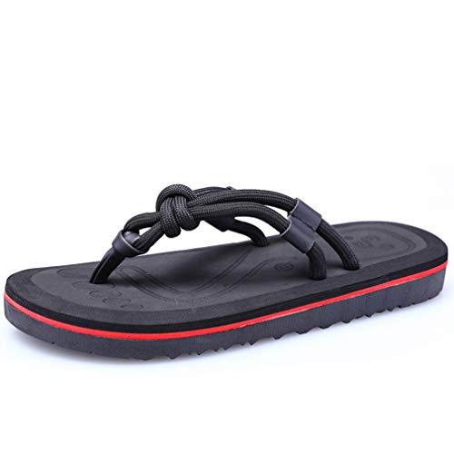 M-Y-L Jongen/Badschoenen, zomermannen strandschoenen in de vrije natuur antislip pantoffels paar persoonlijkheid Flip-Flops, A, 42