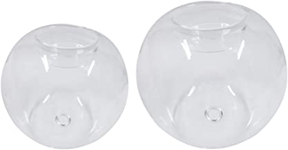 Fenteer 2pcs Ball Shape Tea Light Holder Clear Glass Candle Holder Creative Gifts Holiday Party Display