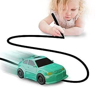 Nylea Magic Vehicles Inductive Truck [Follows Black Line] Magic Toy Car for Kids & Children - Best Toddler Toys MINI Magic Pen Inductive Fangle Kids Car Follow (Green Car)