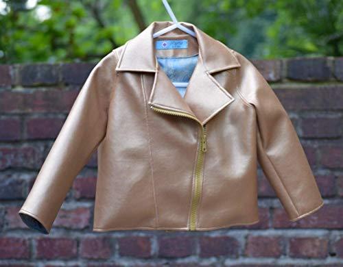Biker-Jacke aus goldenem Kunstleder
