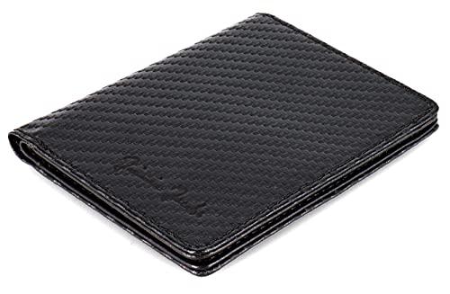 JAIMIE JACOBS SLIMSTAR Portafoglio Uomo Piccolo con protezione RFID Porta Carte di Credito (Carbonio)