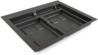 Emuca Drawer System, Cut Waste Sorting bin, Base for 60cm Cabinet (536x482mm), Grey, 60 cm (536 x 482)
