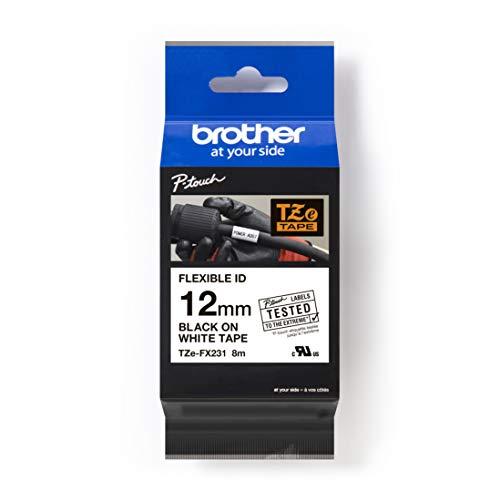 Brother TZE-FX231-Nastro per Etichette Flessibili, 12 mm, Multicolore