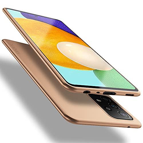 X-level Hülle für Samsung Galaxy A52 4G/5G/A52s 5G, [Guardian Serie] Soft Flex TPU Hülle Superdünn Handyhülle Silikon Bumper Cover Tasche Schale Schutzhülle für Samsung A52 4G/5G/A52s 5G - Gold